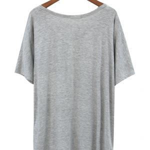 Slouchy Shirt With Draped Pocket