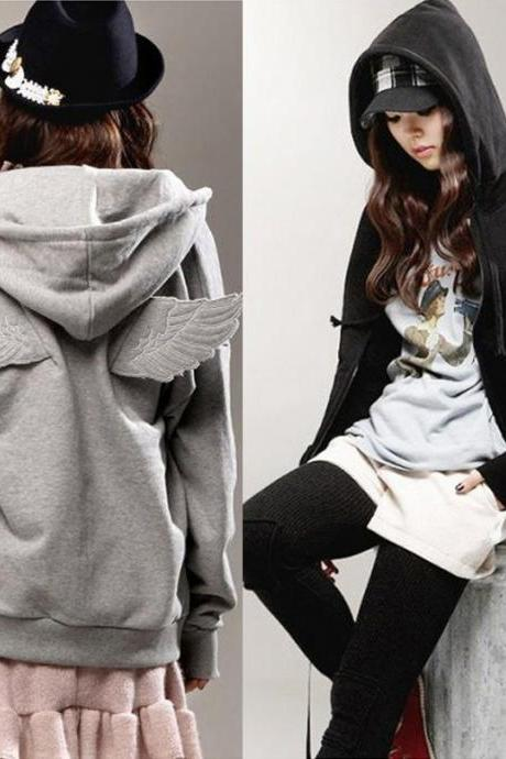 On Sale - Angel Wings Hooded Zipper Sweatshirt